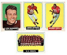 1964 Topps KANSAS CITY CHIEFS team set--B.Buchanan RC, B.Bell RC, L.Dawson!!
