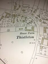 Old Antique Ordnance Map 1932 Lancashire LI.8 Preston Thistleton ...