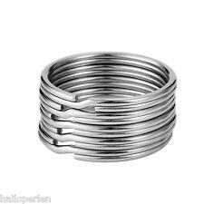 1PC 304 Stainless Steel Dull Silver Tone Split Rings Key Rings Findings 35mm