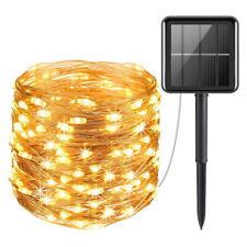 100-200LED Solar String Lights Waterproof Copper Wire Fairy Outdoor Garden Lamp