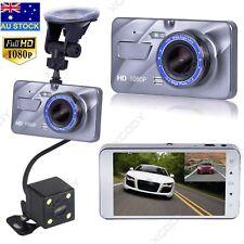 4'' HD 1080P Dual Lens Car DVR Reversing Camera Video Recorder Dash Cam G-sensor
