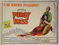 PORGY AND BESS Movie POSTER 22x28 Half Sheet Sidney Poitier Dorothy Dandridge