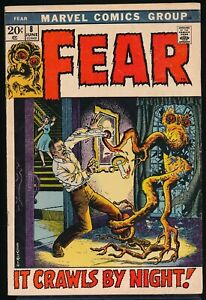 FEAR No. 8 1972 Marvel Horror Comic Book IT CRAWLS BY NIGHT Severin Cover  FN/VF