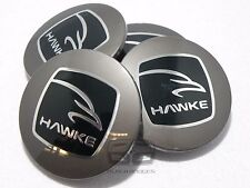 HAWKE Originale Nero Lega Ruota Centro Tappi RANGE ROVER EVOQUE FREELANDER 2
