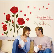 Wall Sticker Removable Phnom Penh Red Rose Flower Three-Dimensional Wallpaper