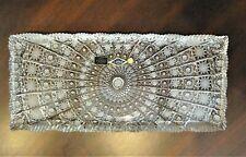 "Bohemian Czech Vintage Crystal 16"" Rectangul Platter Hand Cut QueenLace 24% Lead"