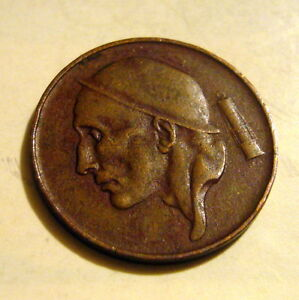 1953 Belgium Fifty (50) Centimes Coin