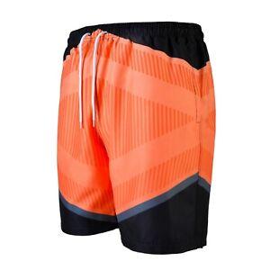 Herren Badehose Badeshorts Schwimmhose Schwimmshort Männer Bermuda Shorts Orange
