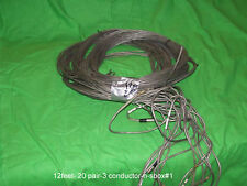 20 pairs 3 conductor audio cable  12 feet long snake