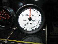 Manometro Pressione Turbo Turbina BOOST Bianco -1 +3 Bar ROAD ITALIA Benzina