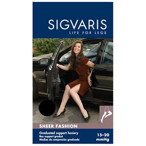 Sigvaris 120N Sheer Fashion 15-20 Closed Toe Thigh High