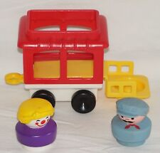 Vintage 1991 Fisher Price Chunky People Circus Train Caboose Engineer Clown