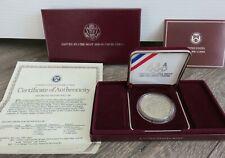 1988-S Olympic Proof Silver Dollar Commemorative Coin Set Box COA U.S. Mint