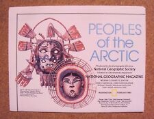 National Geographic February 1983 Map Poster Peoples of The Arctic Ocean