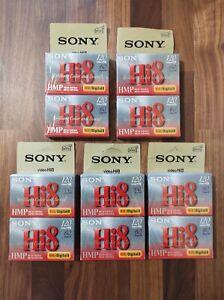 Sony 10 Pack Hi8 HMP Digital8 Tape 60/120min Cassette Camcorder Blank Video New!