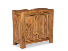 Badmöbel Waschbeckenunterschrank Palisander Badschrank Leeston massiv Holzmöbel