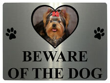 171 BEWARE OF DOG Personalised Photo Metal Aluminium Plaque Sign Door Gate Wall