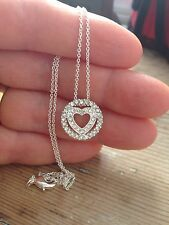 """Italian made 925 silver chain and heart pendant, 16"""" long"""
