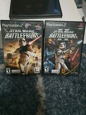 New ListingStar Wars Battlefront 1 and 2 Ps2 PlayStation 2 Video Games Lot Tested!