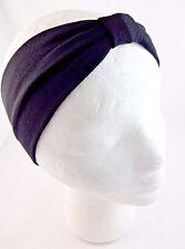 Black bow knot headband stretchy fabric