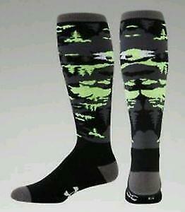 Under Armour UA CG Mens L Snowsports OTC Socks HIY Black U614 FAST SHIP! D44