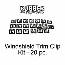1980 - 1998 Ford F-150 / F-250 Truck Windshield Trim Clip Kit - 20 pc.