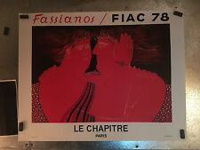 Original Lithographic Poster By Fassianos Le Chapitre