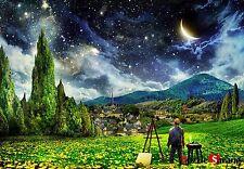 Puzzlelife JIGSAW Puzzle Mini 2014pc Starry Night Gogh Hobby DIY Decoration Gift