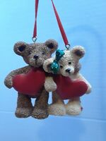 Kurt S. Adler Christmas Ornament 2 Bears with hearts