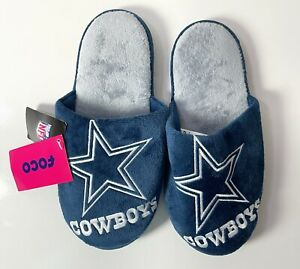 Dallas Cowboys Men's Small 7-8 Football Slippers NWT