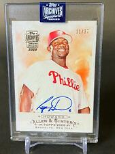 2020 Topps Archives Signature Ryan Howard Auto Autograph /37 Phillies