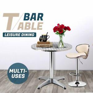 Gardeon Outdoor Bar Table Furniture Cafe Table Aluminium Adjustable Round