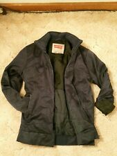 "Levis ""Waxed Canvas"" Insulated Bomber Jacket. Navy. Women's Medium M"