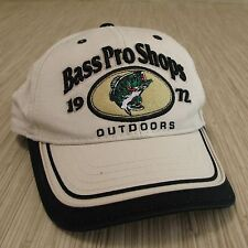 "Bass Pro Shops ""1972  Outdoors"" Cap Tan Black Adjustable Hat Visor One Size"