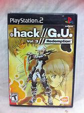 PS2 Dot .hack//G.U. Vol. 3: Redemption (Sony PlayStation 2) BRAND NEW & SEALED