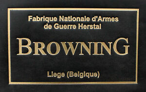 PRESENTATION CUSTOM DISPLAY PISTOL CASE BOX TRADE LABEL for BROWNING, NAGANT
