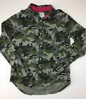 Cat & Jack Girls Long Sleeve Shirt, Size Large 10/12.  Camouflage.  Button Up.