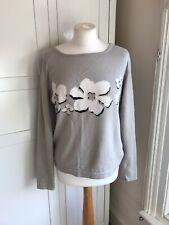 ESCADA Sport Merino Wool/cotton  Jumper Size L (12-14) Natuaral/cream/black