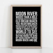 More details for frank sinatra moon river song lyrics poster print wall art