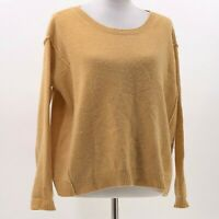 calypso st barth cashmere sweater gold sz S Small