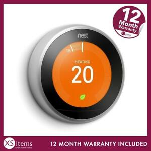 Nest T3010GB Stainless 3rd Generation Learning Thermostat Tablet Mobile Control