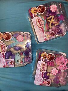 "Lot of 3 Disney Jr Fancy Nancy 10"" Doll Sets Fairy Winter Fashionista NIP"