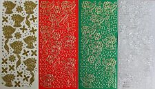 CHRISTMAS BELLS & RIBBONS Dots Stars PEEL OFF STICKERS Dots Cardmaking