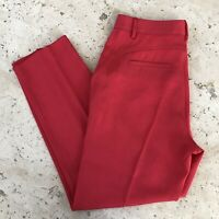 Marc Jacobs Clark Twill High Waisted Pants Size 6 Convertible Red $328
