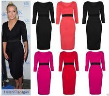 Petite V Neck Calf Length Dresses for Women