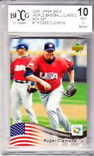 2006 UD World Baseball Classic USA Roger Clemens Cy Young Award Pitcher BCCG 10