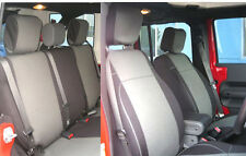 Jeep Wrangler 2007-10 Rubicon JK neoprene Front Rear seat cover 2 dr Grey jpNO2d