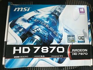 MSI Radeon HD 7870 R7870-2GD5T/OC 2GB GDDR5 graphic card NEW NEVER USED