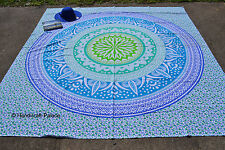 Indian Cotton Wall Hanging Boho Bedspread Bedding Throw Ombre Mandala Tapestry