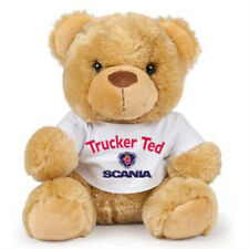Teddy bear trucker ted Scania brown soft toy CE approved 17cm